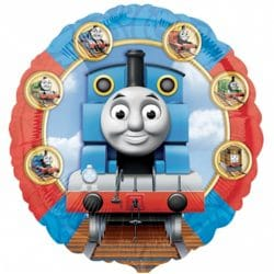 helium filled thomas the tank foil balloon from cardiff balloons