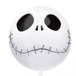 helium fill jack skeleton bubble balloon from cardiff balloons