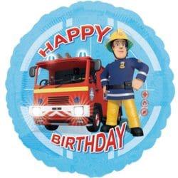 helium filled fireman sam happy birthday foil balloon from cardiff balloons