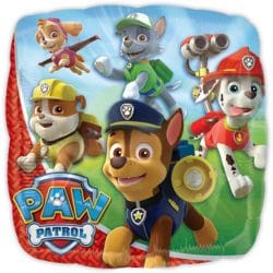 helium filled paw patrol foil balloon from cardiff balloons