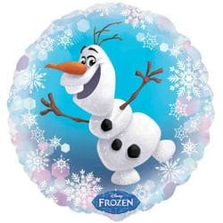 helium filled disneys frozen olaf foil balloon from cardiff balloons