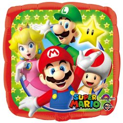 helium filled super mario foil balloon from cardiff balloons
