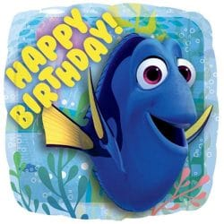 helium filled happy birthday finding dory foil balloon from cardiff balloons