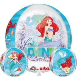 helium filled disney the little mermaid orb balloon from cardiff balloons