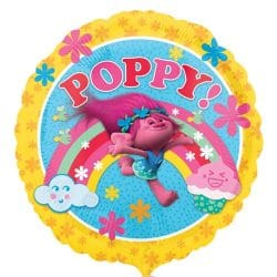 helium filled trolls poppy foil balloon from cardiff balloons