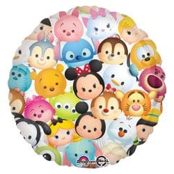 helium filled disney tsum tsum foil balloon from cardiff balloons