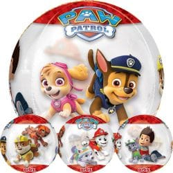 large helium filled paw patrol bubble balloon from cardiff balloons