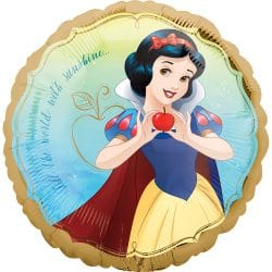 helium filled snow white foil balloon from cardiff balloons