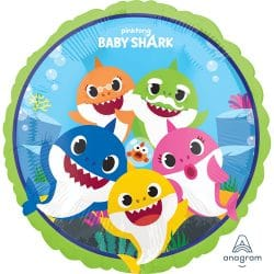 helium filled baby shark foil balloon from cardiff balloons