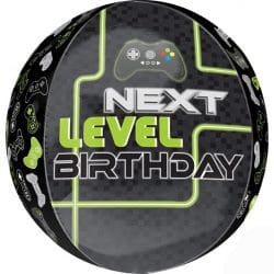 large orb gaming birthday balloon from cardiff balloons