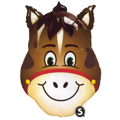large helium filled horse head foil balloon from cardiff balloons