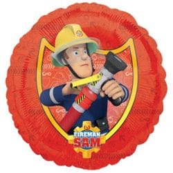 helium filled fireman sam foil balloon from cardiff balloons