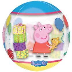 helium filled peppa pig bubble balloon from cardiff balloons