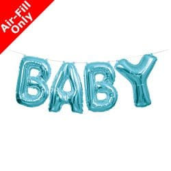 air fill blue baby foil balloon from cardiff balloons