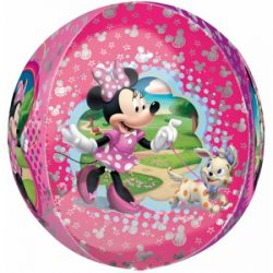 helium filled minnie mouse orb balloon from cardiff balloons