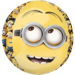 Helium filled minions bubble balloon from cardiff balloons