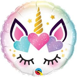 unicorn helium foil balloon from cardiff balloons