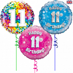 11th Birthday Foil Balloon From Cardiff Balloons