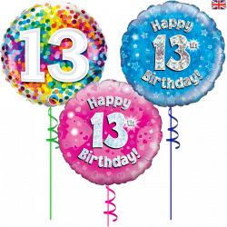 Ahe 13 Helium Filled Foil Balloons