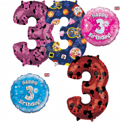 3rd Birthday Balloons From Cardiff Balloons