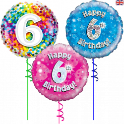 6th Birthday Balloons From Cardiff Balloons