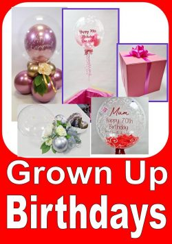 Grown Up Birthday Balloons