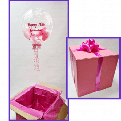 Personalised Balloon In A Box From Cardiff Balloons