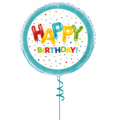 spotty helium filled foil balloon from cardiff balloons