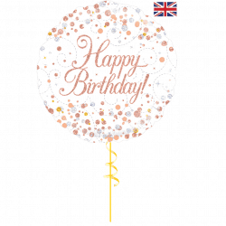 pink spotty helium foil balloon from cardiff balloons