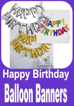 Happy BIrthday Balloon Banners
