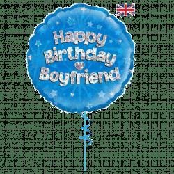 happy birthday boyfriend helium foil balloon from cardiff balloons