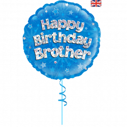 happy birthday brother helium foil balloon from cardiff balloons