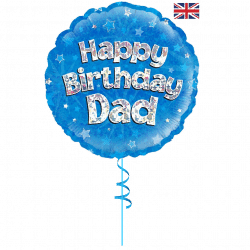 happy birthday dad helium foil balloon from cardiff balloons