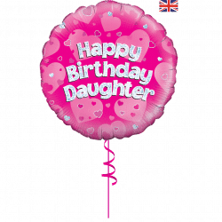 happy birthday daughter helium foil balloon from cardiff balloons