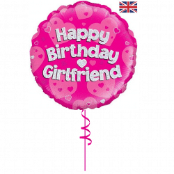 happy birthday helium foil balloon from cardiff balloons