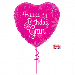 happy birthday gran helium foil balloon from cardiff balloons