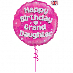 happy birthday great granddaughter helium foil balloon from cardiff balloons