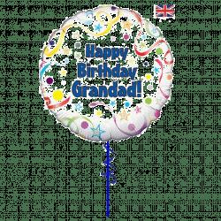 happy birthday grandad helium foil balloon from cardiff balloons
