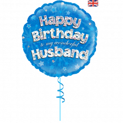 happy birthday husband helium foil balloon from cardiff balloons