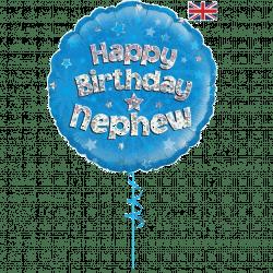 happy birthday nephew helium foil balloon