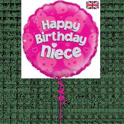 happy birthday niece helium foil balloon