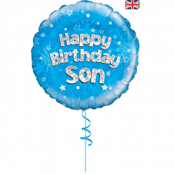 happy birthday son helium filled foil balloon from cardiff balloons