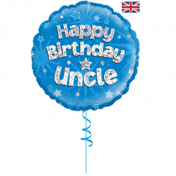happy birthday uncle helium foil balloon from cardiff balloons