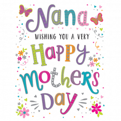 Mothers Day Card For Nana From Cardiff Balloons
