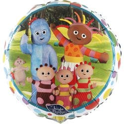 helium filled in the night garden foil balloon from cardiff balloons