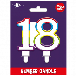 large number 18 birthday candle from cardiff balloons