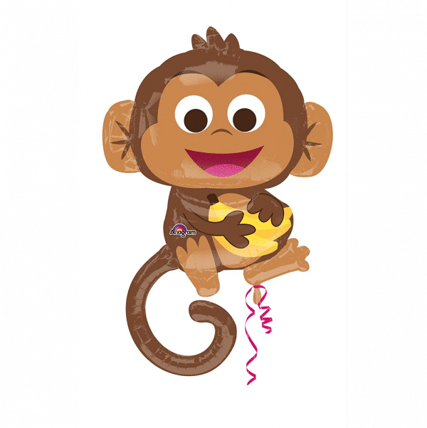 Large Helium Filled Monkey Balloon From Cardiff Balloons