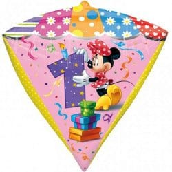 large helium filled minnie mouse foil balloon from cardiff balloons