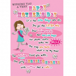 Mothers Day Card Happy MOthers Day From Cardiff Balloons