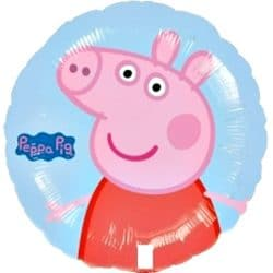 helium filled peppa pig foil balloon from cardiff balloons